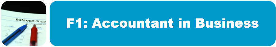 ACCA F1: Accountant in Business – ACCA Expert